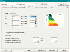 Energy data input window